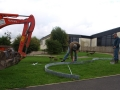 Marking out  the site for sculpture